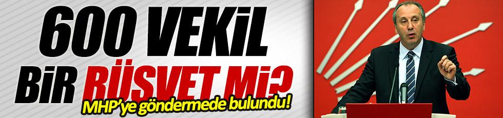 Muharrem İnce'den MHP'ye gönderme
