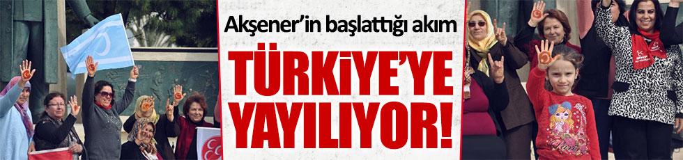 Akşener'in başlattığı akım Türkiye'ye yayılıyor