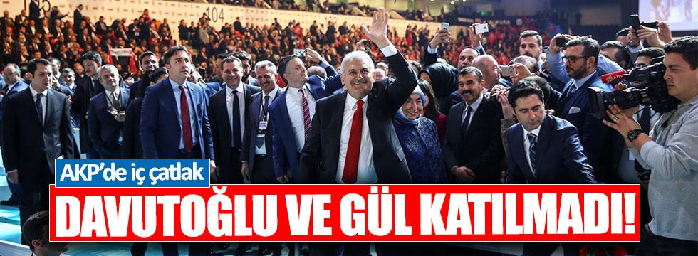 Gül ve Davutoğlu, AKP'nin Anayasa programına katılmadı
