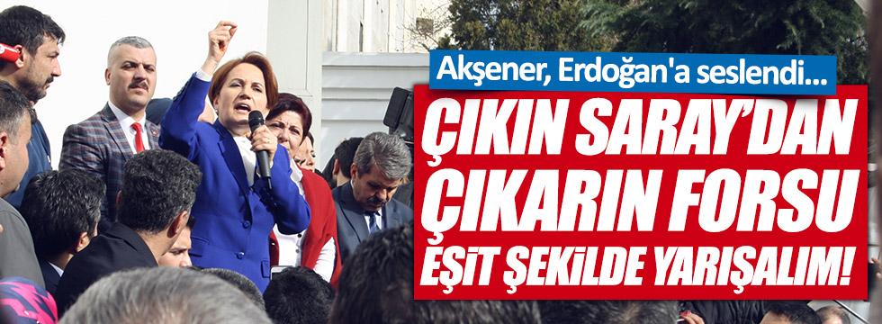 Akşener İstanbul'dan, Cumhurbaşkanı'na seslendi