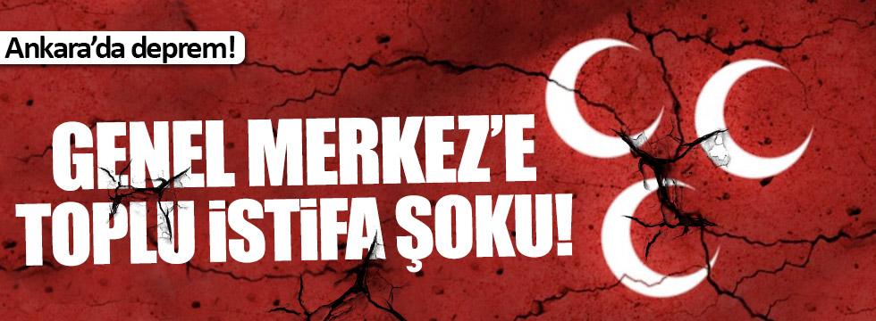 MHP Genel Merkezi'ne toplu istifa şoku!