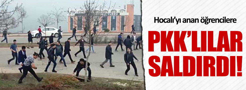 PKK'lılar İzmit'te öğrencilere saldırdı