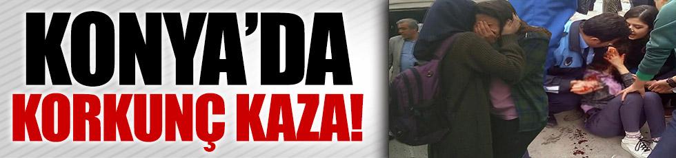 Konya'da servis kazası! 15 kişi yaralı