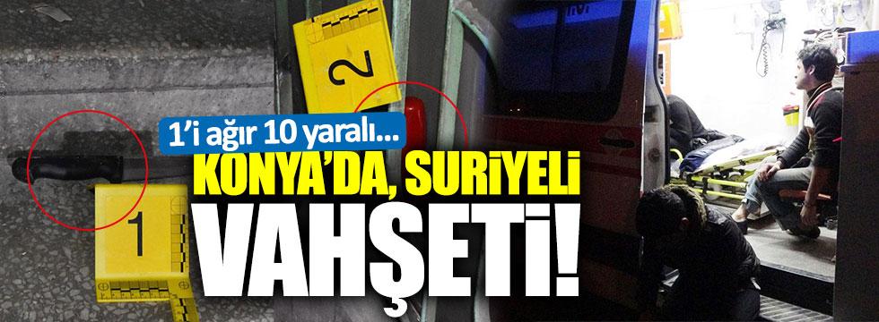 Konya'da Suriyeli vahşeti