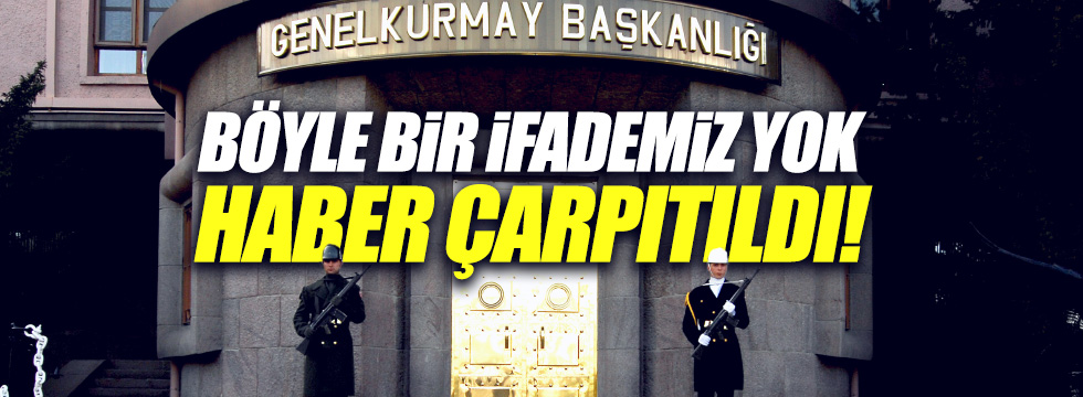 TSK'dan 'Karargah Rahatsız' açıklaması