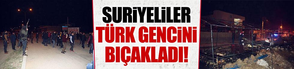 Suriyeliler Türk gencini bıçakladı!