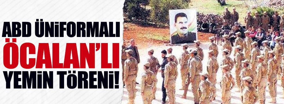 ABD üniformalı, Öcalan posterli yemin töreni