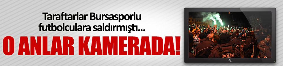 Bursaspor kafilesine saldırı anı internete düştü!