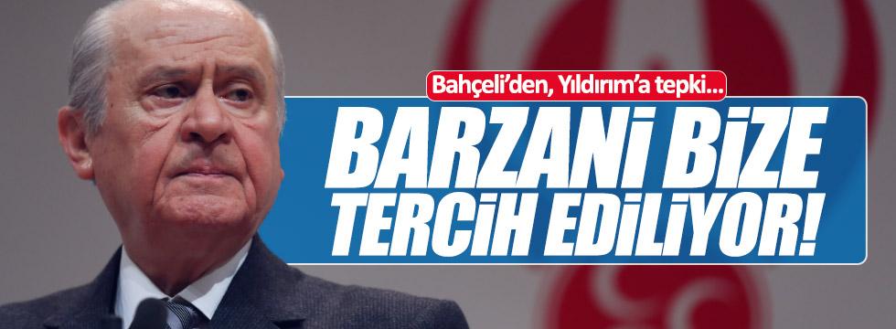 Bahçeli'den Yıldırım'a Barzani tepkisi