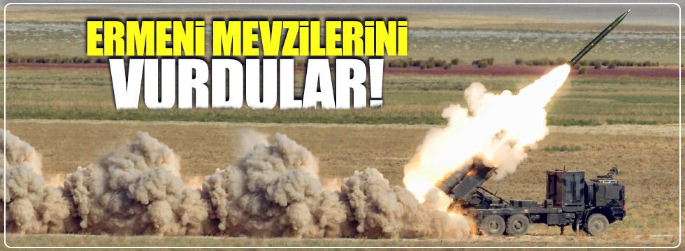 Ermeni mevzilerini vurdular