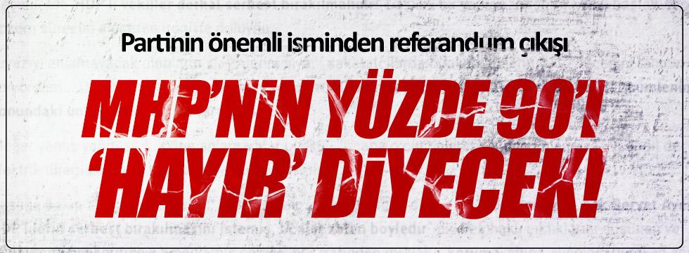 Halaçoğlu: MHP'nin yüzde 90'ı 'hayır' diyecek!