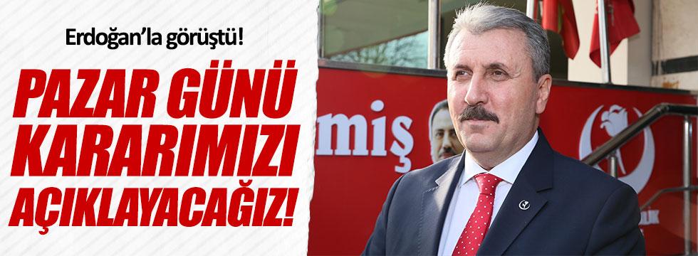 Destici, Erdoğan'la görüştü