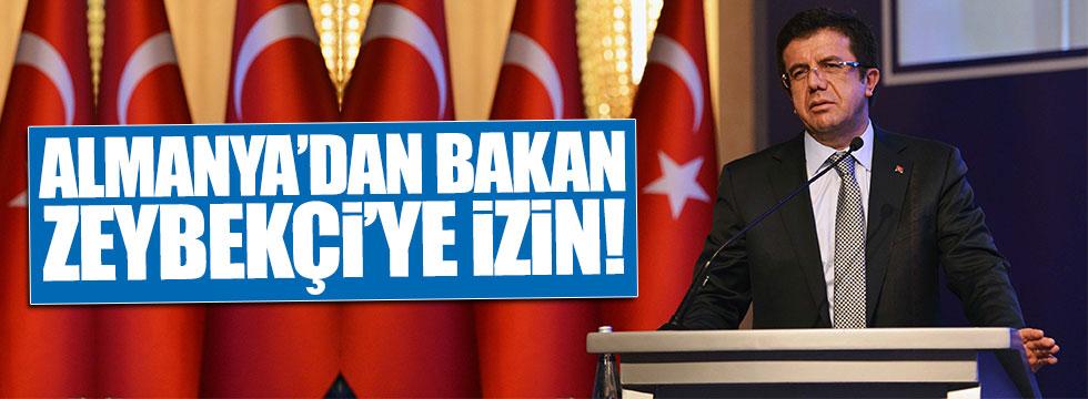 Almanya'dan Bakan Zeybekçi'ye izin!