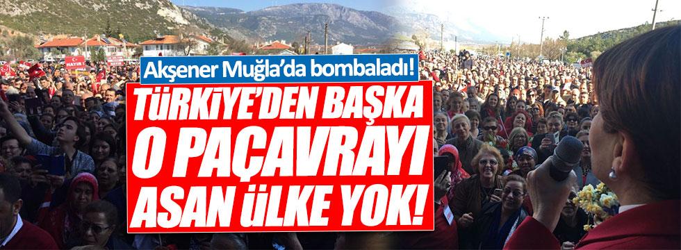 Akşener: Türkiye'den başka o paçavrayı asan ülke yok!
