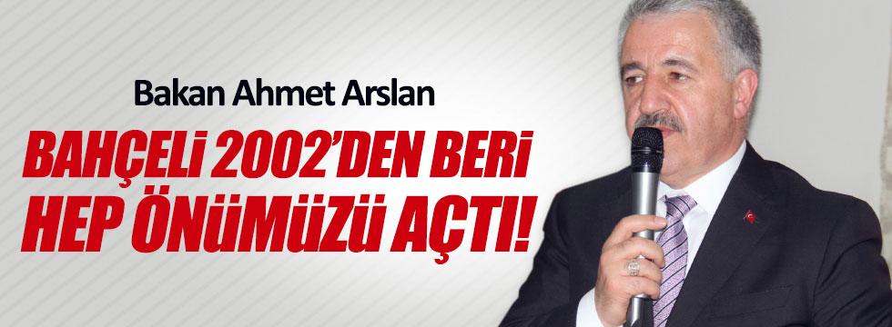 Bakan Arslan: Bahçeli hep önümüzü açtı