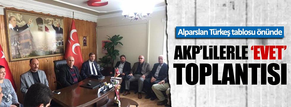 Alparslan Türkeş tablosu önünde AKP-MHP toplantısı