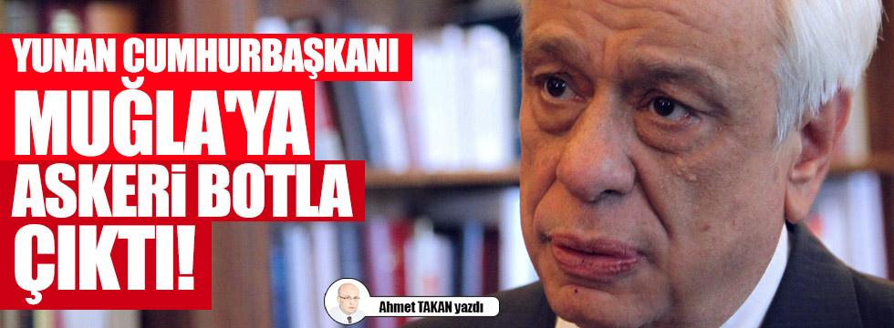 Yunan Cumhurbaşkanı Muğla'ya askeri botla çıktı!..