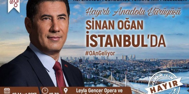 Oğan, İstanbul'dan 'hayır' diyecek