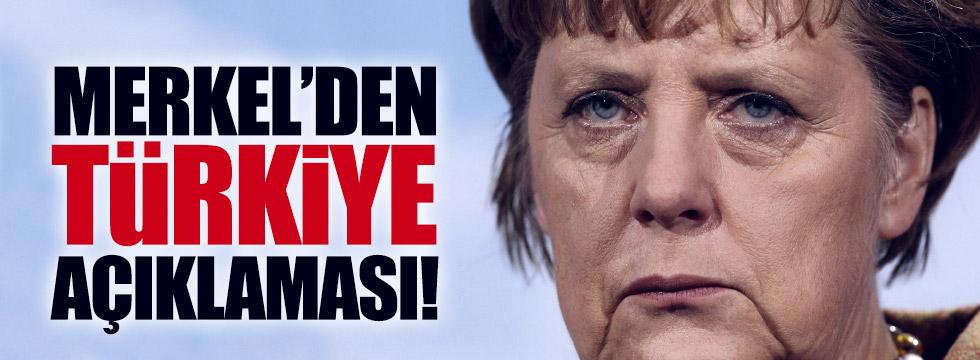 Merkel'den, Türkiye açıklaması
