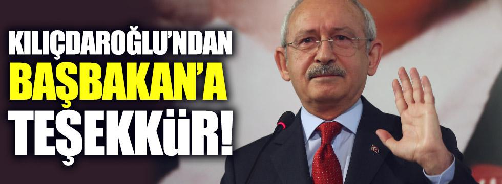 Kılıçdaroğlu'ndan, Başbakan'a teşekkür