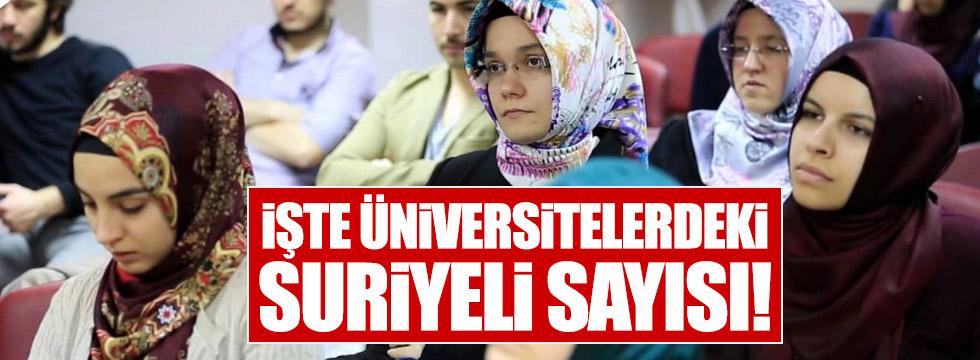 işte üniversitelerdeki Suriyeli öğrenci sayısı