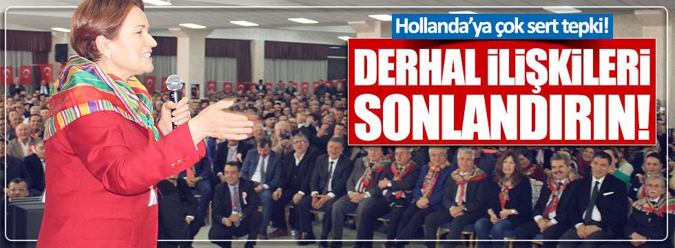 Akşener'den Hollanda'ya sert tepki