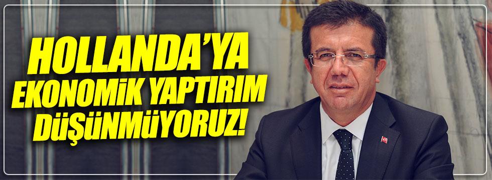 Bakan Zeybekçi: Ekonomik yaptırım söz konusu değil