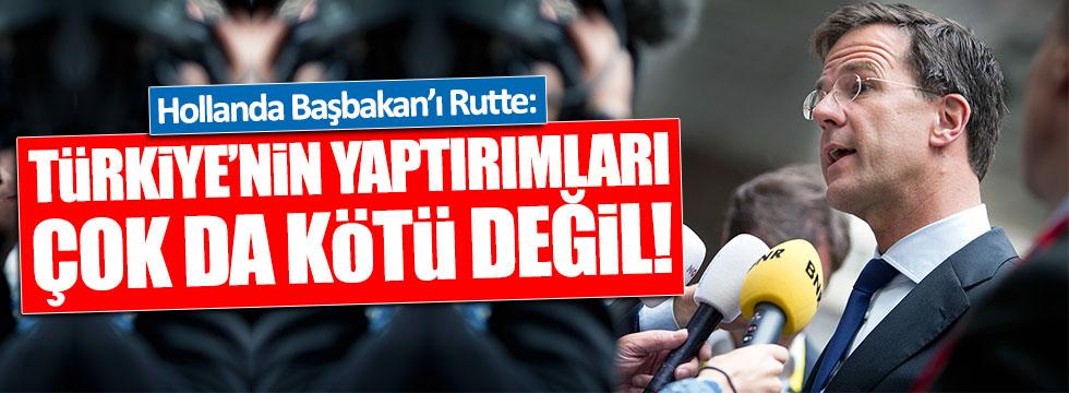 Rutte: Türkiye'nin yaptırımları çok da kötü değil
