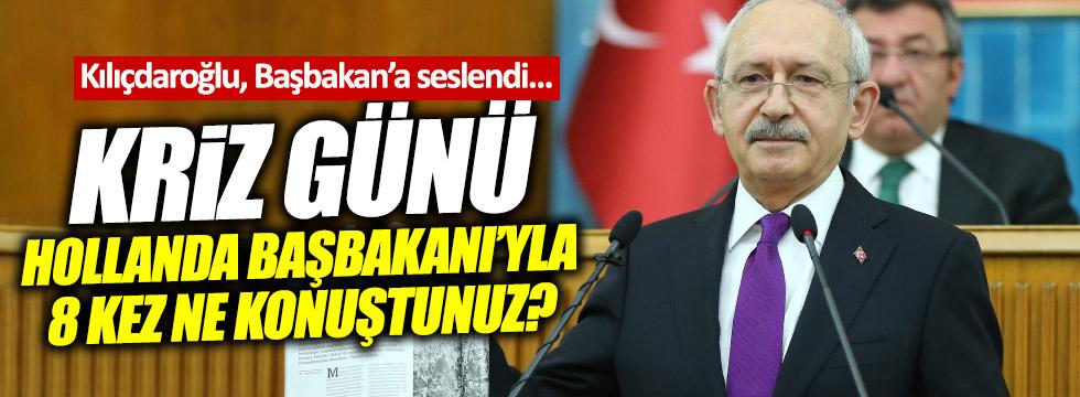 Kılıçdaroğlu'ndan, Başbakan'a çağrı