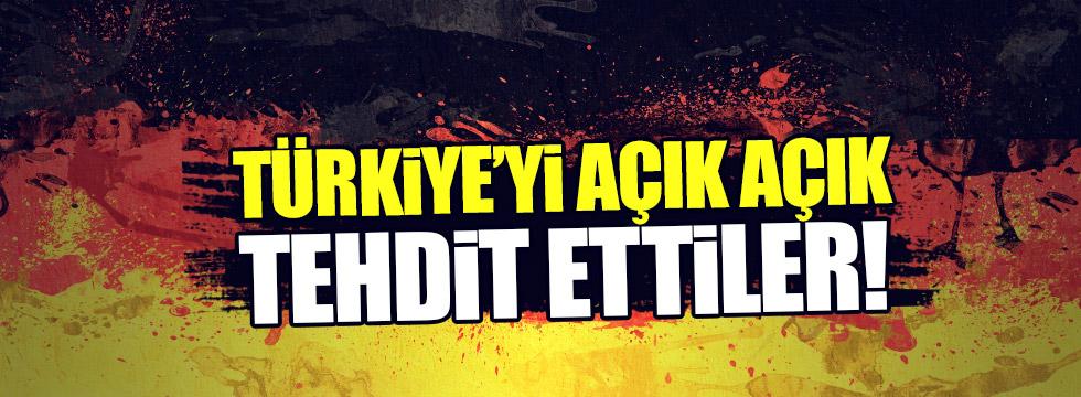 Türkiye'yi açık açık tehdit ettiler