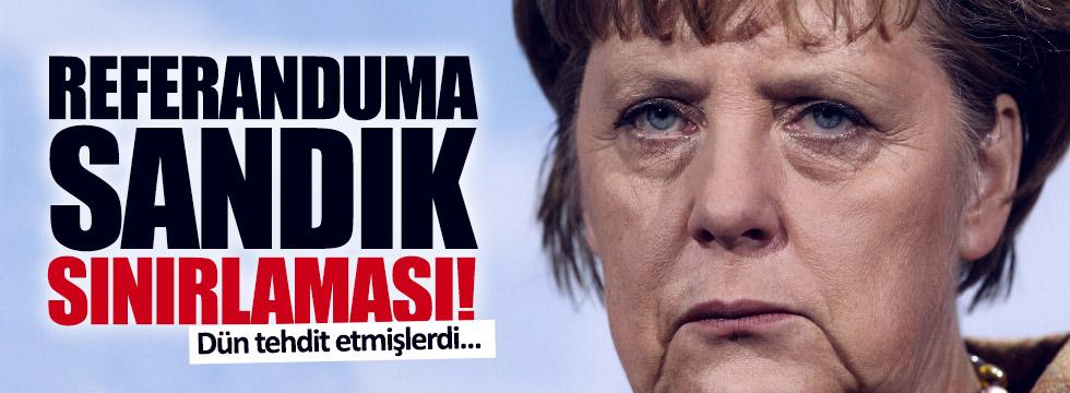 Almanya'dan referanduma sandık sınırlaması