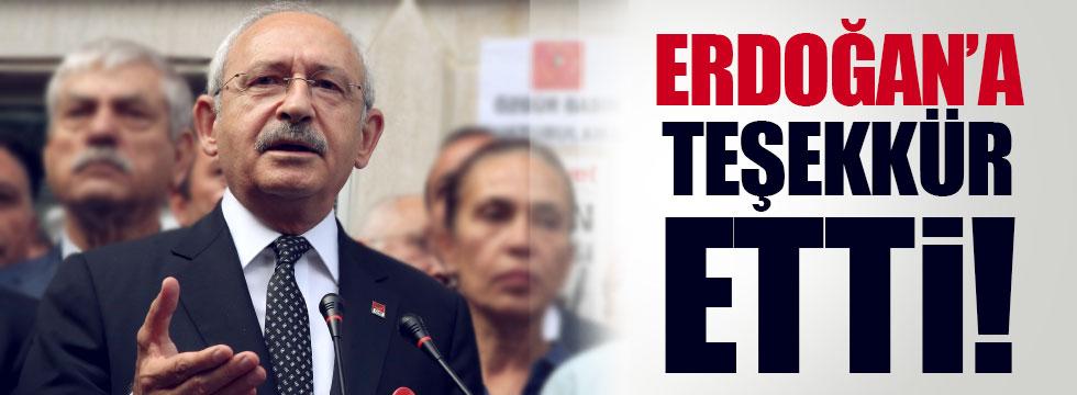 Kılıçdaroğlu, Cumhurbaşkanı Erdoğan'a teşekkür etti