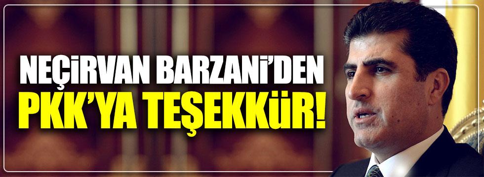 Neçirvan Barzani'den PKK'ya teşekkür