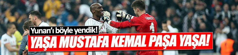 Beşiktaşlılar Vodafone Arena'yı İzmir Marşı ile inletti!