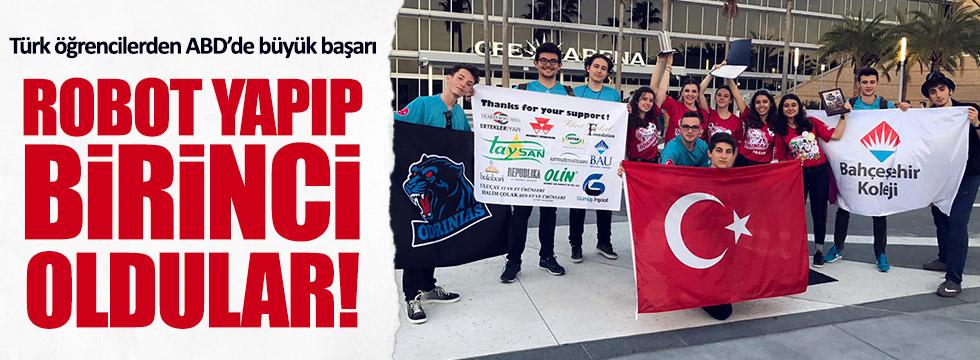 Türk öğrenciler, ABD'deki robot yarışmasına damga vurdu