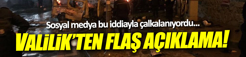 Valilik'ten 'bombalı saldırı' açıklaması