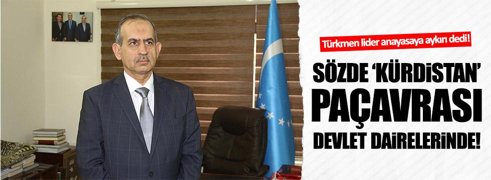 """Devlet dairelerine sözde """"Kürdistan"""" bayrağı asılmasına tepki!"""