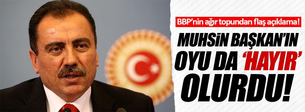 BBP'li Şendiller: Muhsin Başkan yaşasaydı 'hayır' derdi