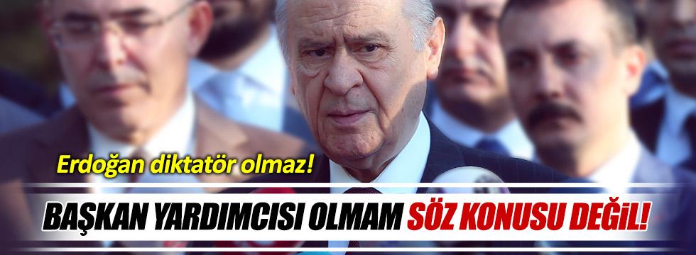 Bahçeli: Erdoğan diktatör olmaz