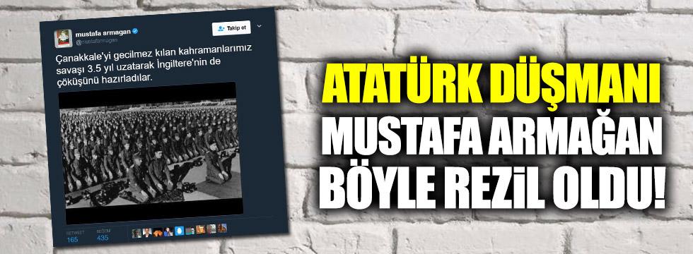 Atatürk düşmanı Mustafa Armağan böyle rezil oldu!