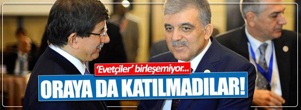Davutoğlu ve Abdullah Gül, Başbakan Yıldırım'ın kahvaltısına katılmadı