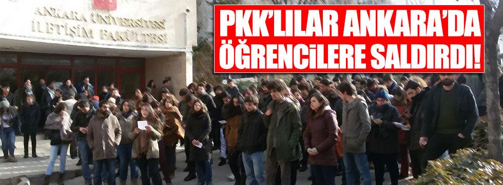 PKK'lılar Ankara'da öğrencilere saldırdı