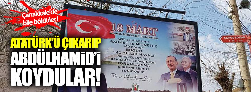 Atatürk'ü çıkardılar, Abdülhamid'i koydular!
