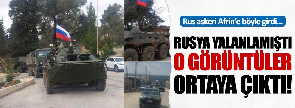 Rus askeri Afrin'e böyle geldi