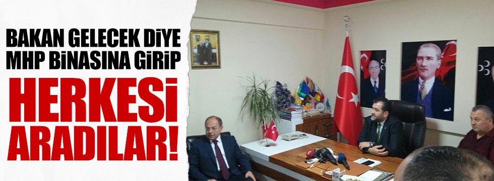 Bakanziyareti öncesi MHP İlçe Teşkilatına polis araması