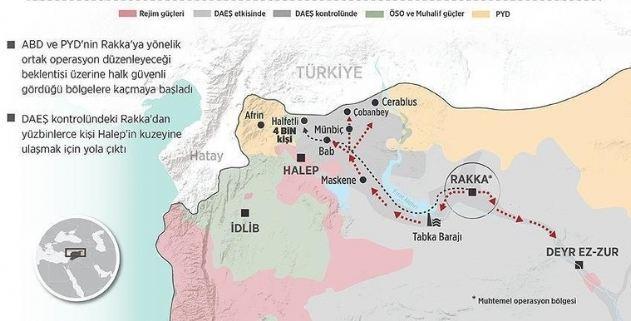 Rakka alınınca Suriye devleti 3'e bölünecek!