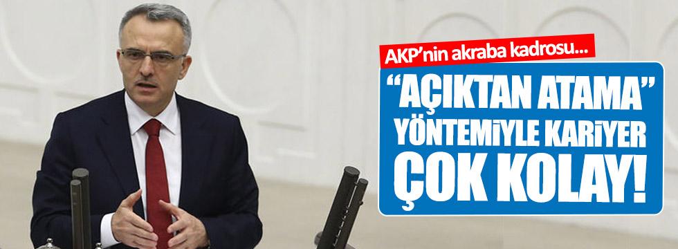 """AKP'nin """"açıktan atama"""" yöntemiyle kariyer çok kolay!"""