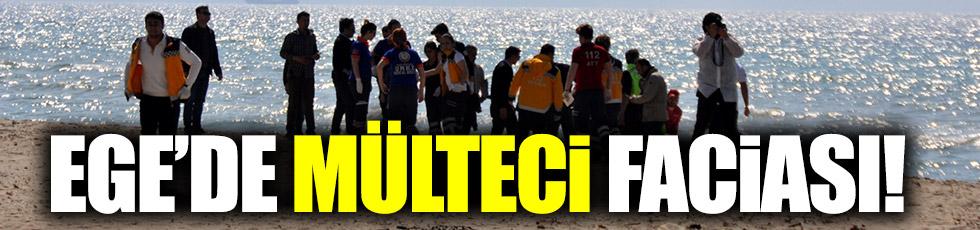 Ege'de mülteci botu battı