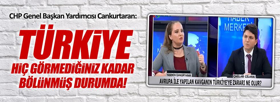 """CHP'li Cankurtaran, """"Türkiye evetçi, hayırcı şeklinde bölünüyor"""""""
