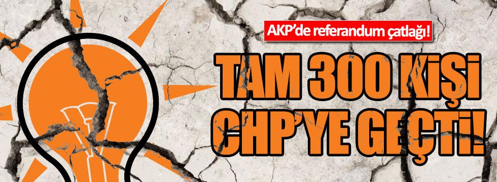 AKP'de 'hayır' çatlağı! 300 partili istifa etti